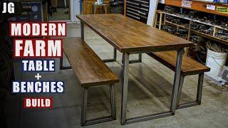 Metal & Wood Kitchen Table | JIMBO'S GARAGE