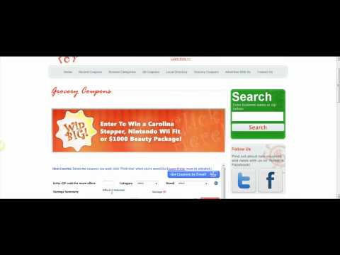 Spider Savings Tutorial Video #2 Coupons, Local Directory, and Grocery Coupons