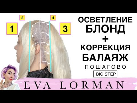 Окрашивание волос балаяж видео уроки для парикмахеров