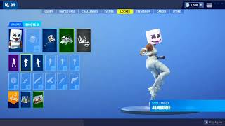 FORTNITE BATTLE ROYALE-NEW SKINS AND DANCES... (DJ MARSHMELLO FOR WOMEN)