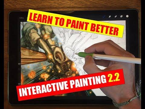 APPLE PENCIL IPAD PRO ART - INTERACTIVE PAINTING 2.2