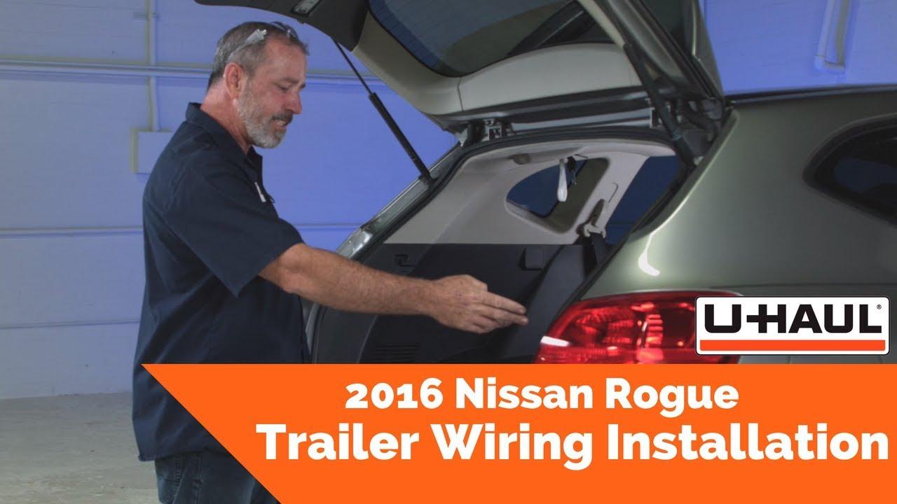2016 Nissan Rogue Trailer Wiring Installation on