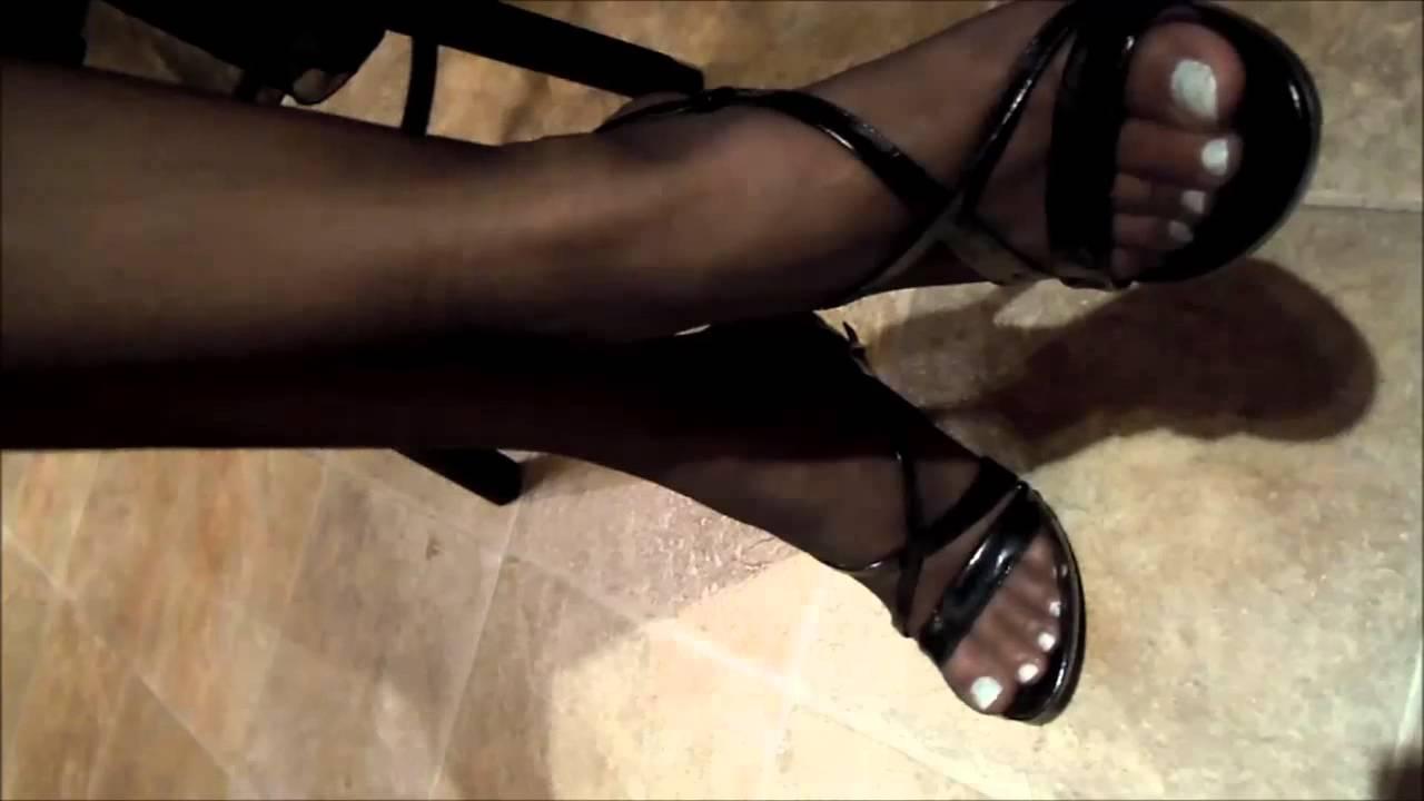 Hot strip tease heels