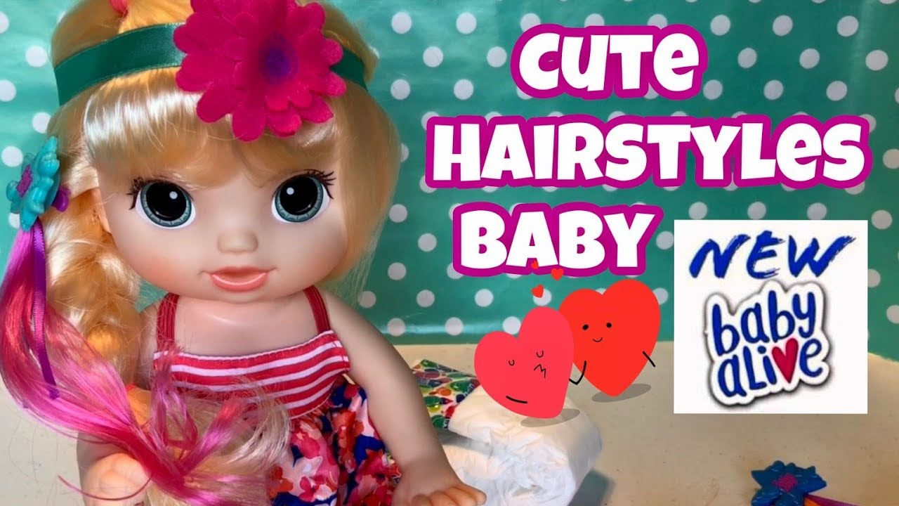 Baby Alive CUTE HAIRSTYLES BABY 2017 blonde Kohl's exclusive - YouTube