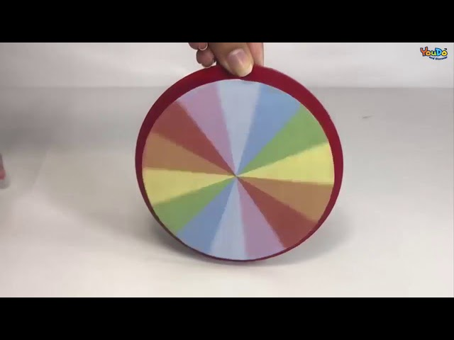 Newton color wheel / Mixing Of Colours & White Light Formation