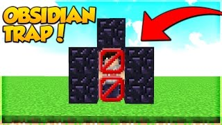 NEW OVERPOWERED OBSIDIAN TRAP! (Minecraft Bed Wars Trolling)