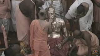 Srila Prabhupada's Abhisheka During The Centennial Year Pushya Samadhi Mandir Grand Opening in 1996.