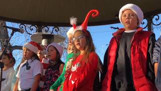 Lighting Of The Trees Ceremony 2017 Santa Fe - Santo Niño Regional Catholic School Choir Clip 3