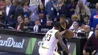 LeBron James Duels Paul George in Cleveland