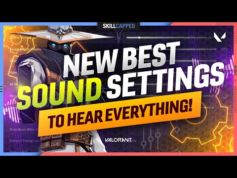 NEW BEST SOUND SETTINGS TO HEAR EVERYTHING! - Valorant Settings Guide (Audio, HRTF, & More!)