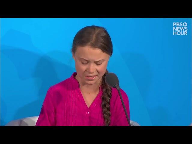 Greta Thunberg az Európai Parlamentben