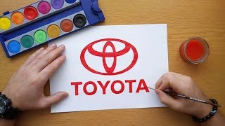 How to draw Toyota logo