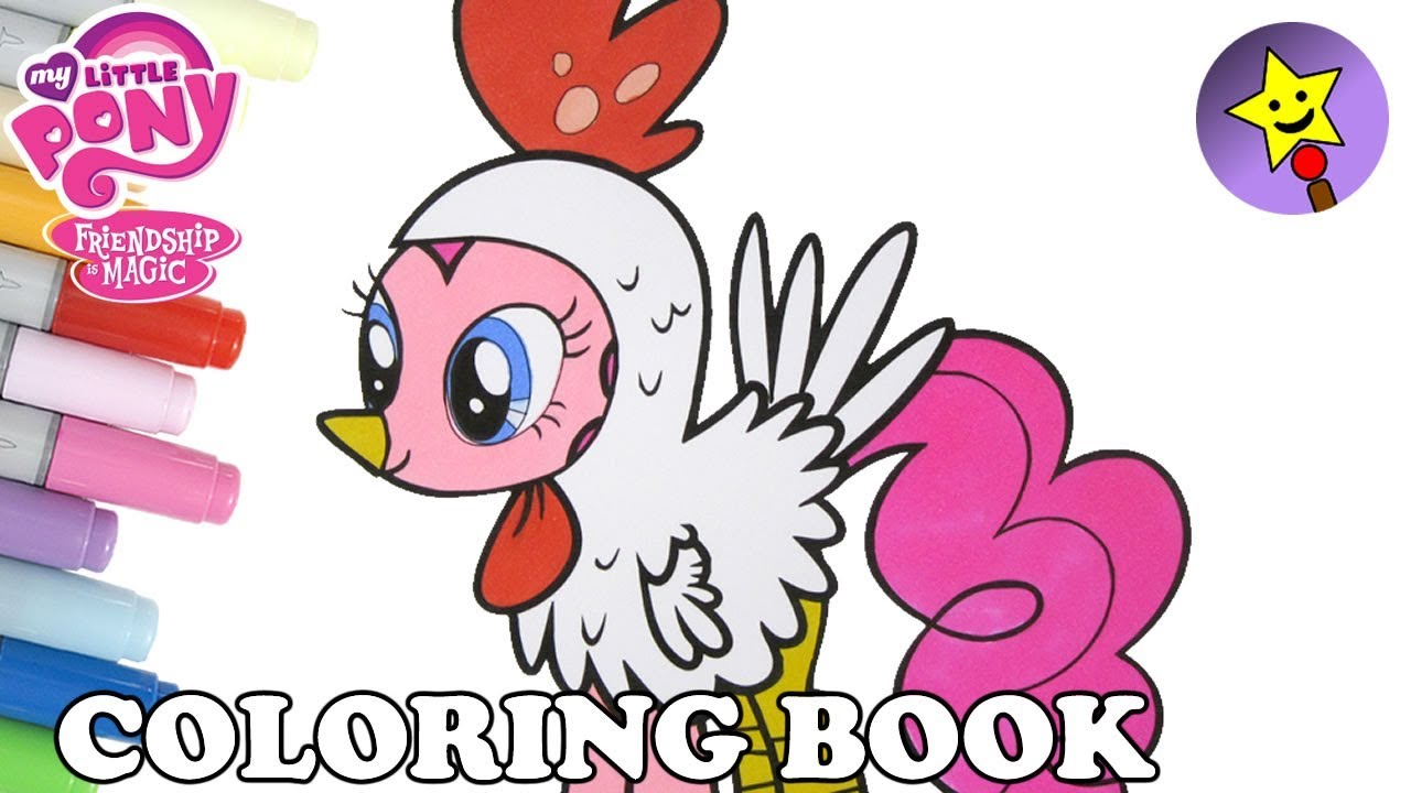 Pinkie Pie Halloween Coloring Book MLP My Little Pony Pinkie Pie ...
