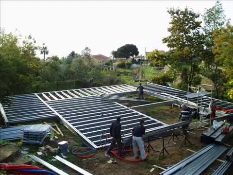 MAISON STRUCTURE METALLIQUE YouTube - Maison en charpente metallique