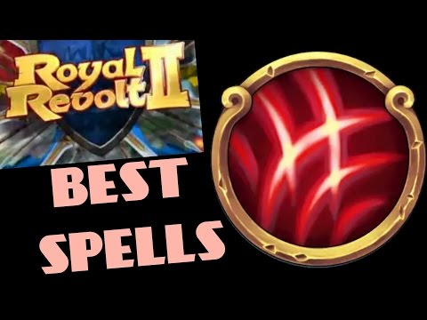 ROYAL REVOLT 2 - BEST ATTACK SPELLS STRATEGIES