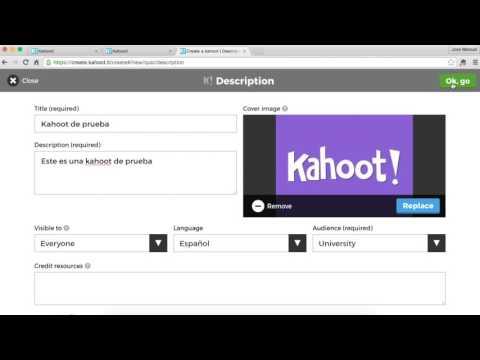 Cómo crear un Kahoot