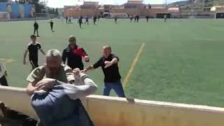 Batalla campal entre padres en un partido de infantiles en Alaró.(Mallorca)