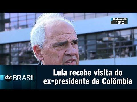 Lula recebe visita do ex-presidente da Colômbia em Curitiba | SBT Brasil (23/08/18)