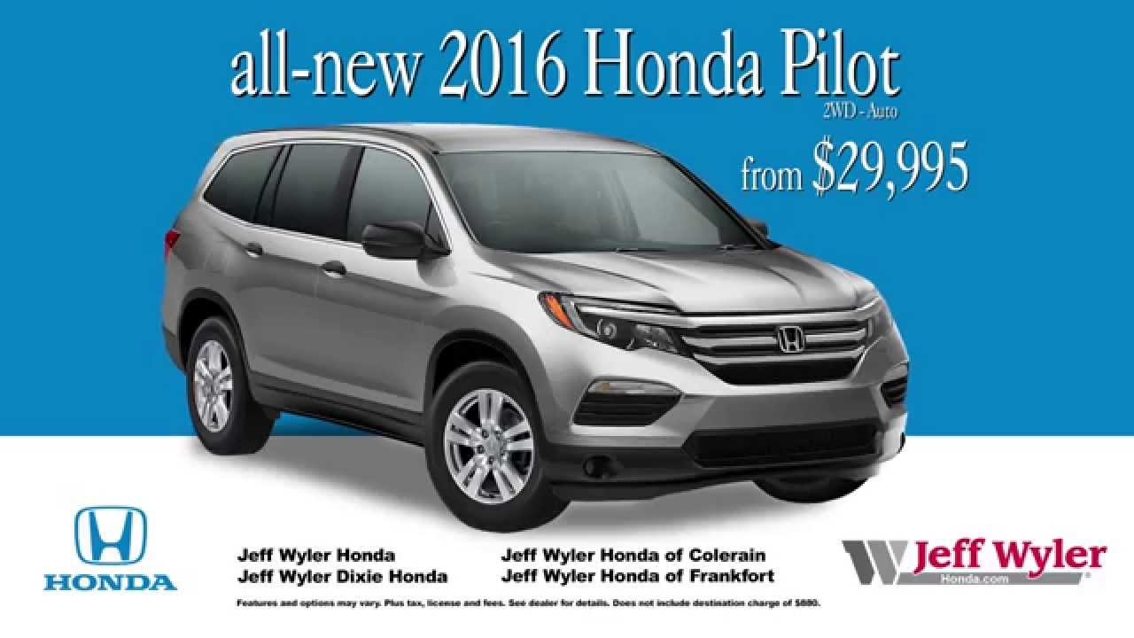 Jeff Wyler Honda >> 2016 Honda Pilot for sale at Jeff Wyler Dealerships - YouTube