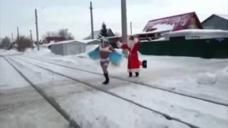 Прикольное Поздравление С Новым 2018 годом и  Рождеством
