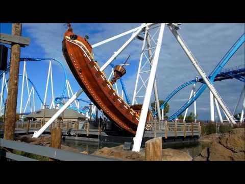 Cedar Point: Ocean Motion off ride video 1080p