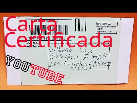 Carta Certificada Usa Certified Mail Youtube
