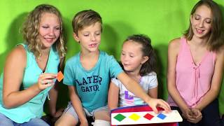Learn English Shapes! Big Diamond Little Diamond with Sign Post Kids!