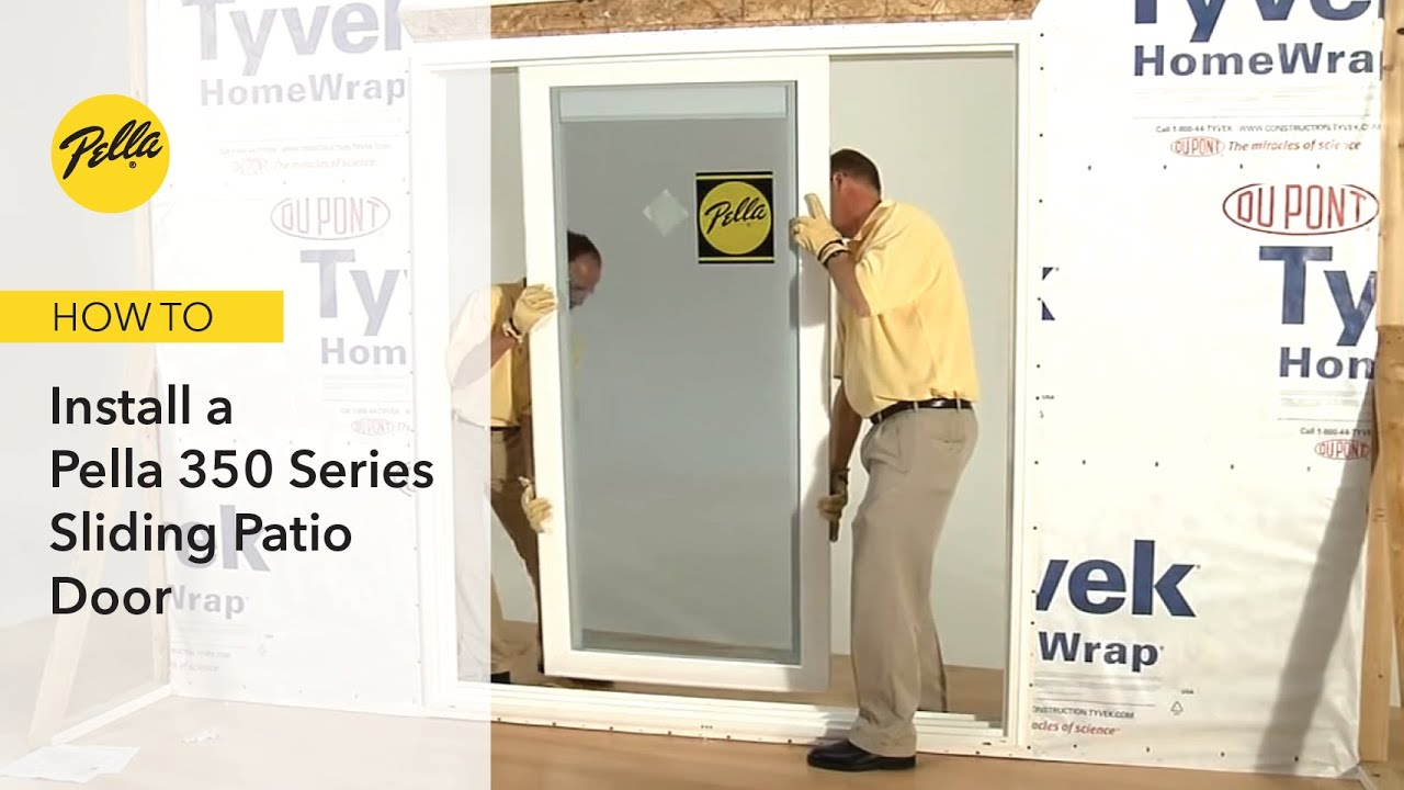 How To Install 350 Series Sliding Patio Door Youtube