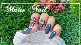 [셀프젤네일] 가을 겨울 매트네일 | 샤넬st 패턴네일…