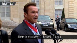Schwarzenegger recibe en Francia la prestigiosa condecoración Legión de Honor