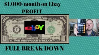1 000 A Month On Ebay In PROFIT Numbers Fully Broken Down