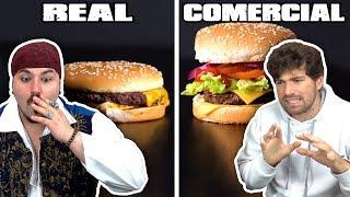 COMIDA EN COMERCIAL vs  COMIDA REAL con MIKECRACK 🤣