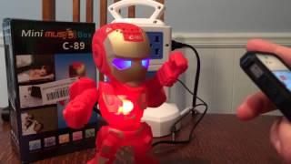 Iron Man Wireless Bluetooth Speaker test and review FM TF Card MP3 Playlist U DRIVE