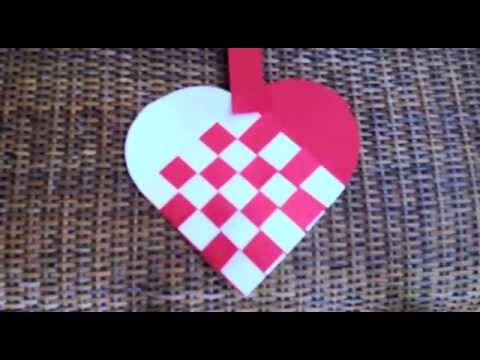 How To Make A Woven Heart For Valentine S Day Youtube