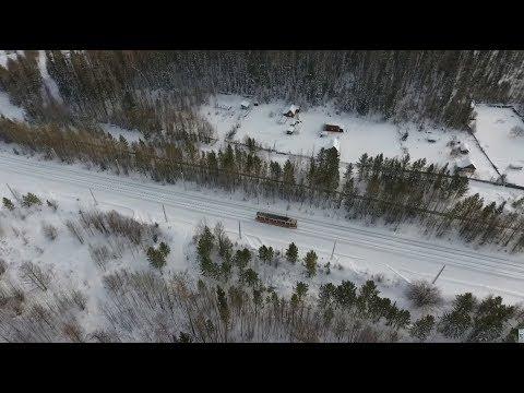 Сказочный маршрут: в Усть-Илимске скоростной трамвай возит пассажиров через тайгу