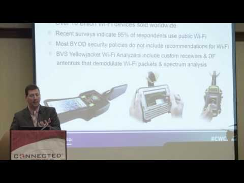 Wireless Drone Detection, TSCM and Contraband Cell Phone Detection Presented At Connected World 2015