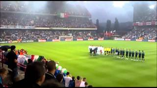 Italian National Anthem - Italy -vs- Ireland at Standard de Liège - Inno di Mameli - 09/06/2011