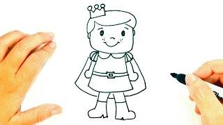 Cómo dibujar un Principe paso a paso | Dibujo fácil de Principe