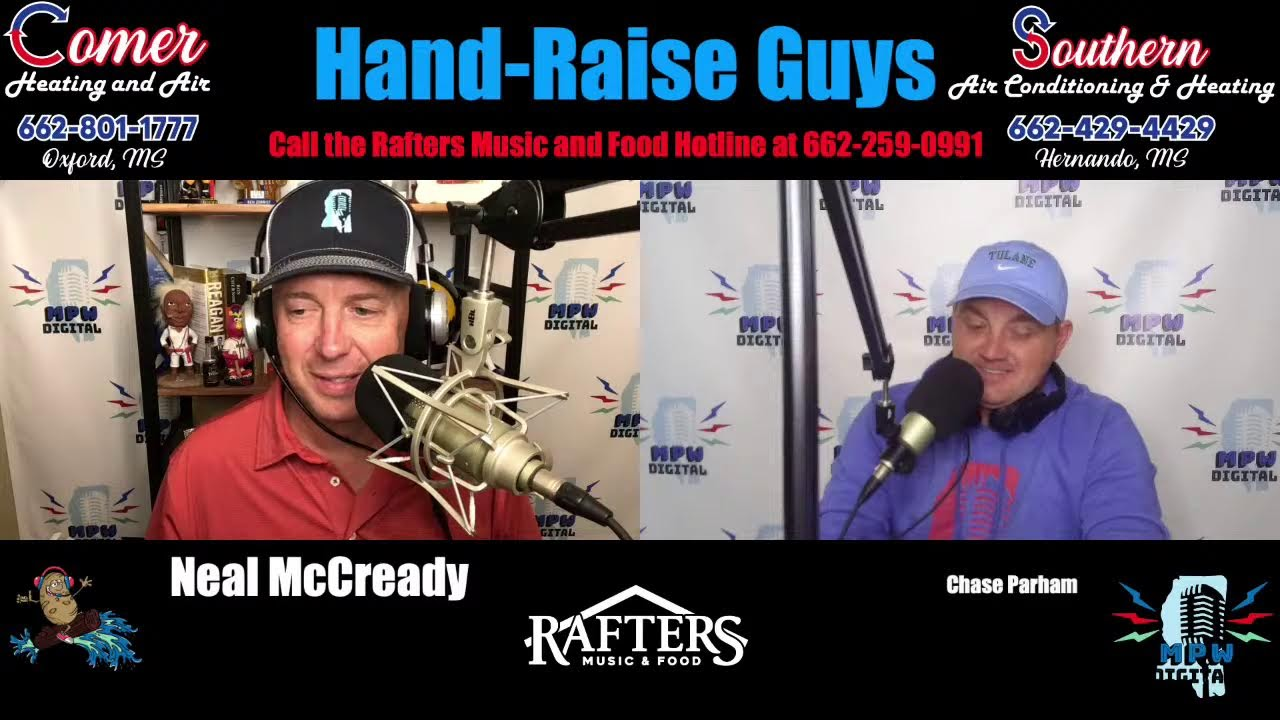 Hand-Raise Guys, presented by Comer Heating and Air and Southern Air Conditioning and Heating