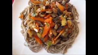 Лапша соба с  овощами в  азиатском  стиле.  № 89 Простые рецепты,кулинария.