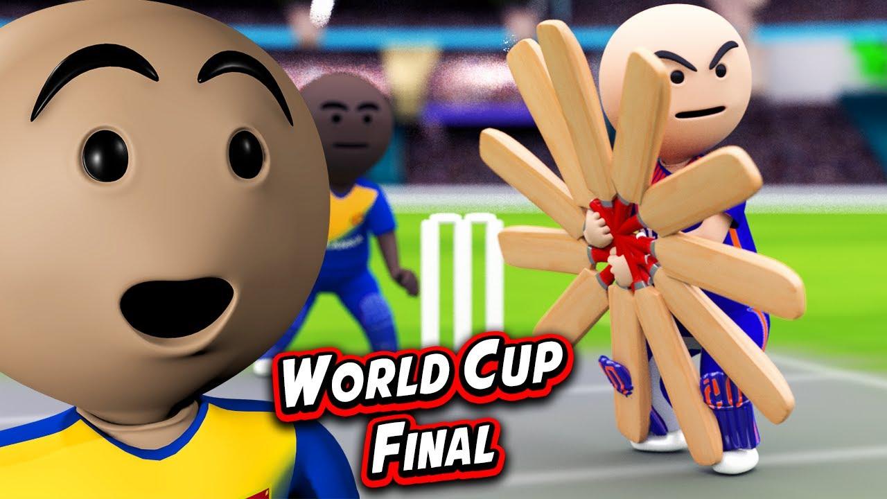 3D ANIM COMEDY - CRICKET WORLD CUP FINAL || INDIA VS SRILANKA || LAST OVER