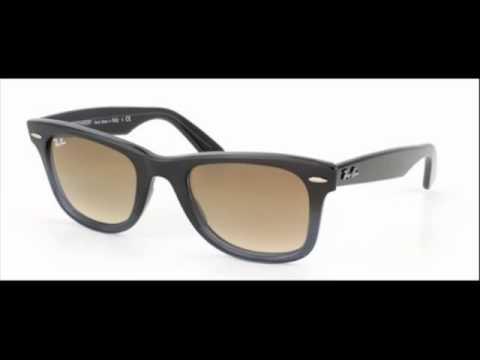 Ray Ban Wayfarer Brown Gradient RB 2140 824 51 Sunglasses - YouTube 683b4c882e