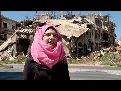 """I want to be an astronaut"" - Hope amid Homs ruins for Syrian family"