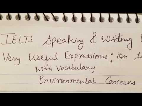 Environment Vocabulary  | Useful expressions/sentences for speaking | academic | general |