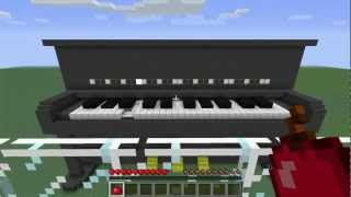 Piano que toca música - Desafio Redstone EP2