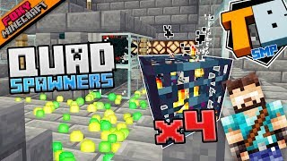 QUAD MONSTER SPAWNERS | Truly Bedrock [1-09] | Minecraft Bedrock Edition SMP (MCBE)