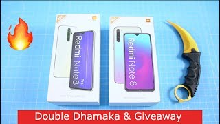 Redmi Note 8 & 8 Pro Unboxing | Taaza INDIAN Unit 🔥🔥 Double Dhamaka | Giveaway