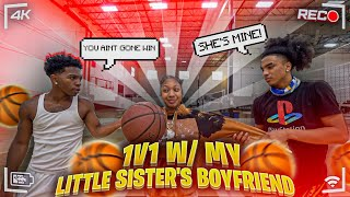 1V1 BASKETBALL VS MY LIL SISTER BOYFRIEND *IF I WIN THEY STOP TALKING!*