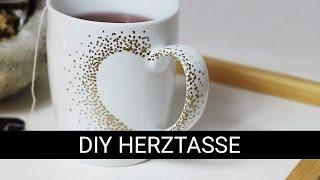DIY HERZTASSE   Valentinstag Geschenk Pinterest