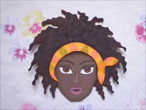 Mulher Negra Aplique Em E V A Youtube
